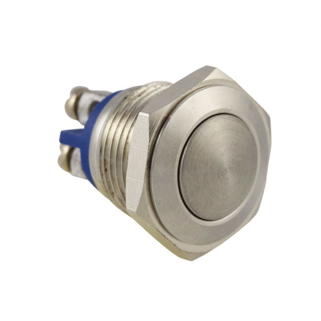 Stainless Steel 16mm IP65 Anti-Vandal Switch, Momentary Action (A46WY) AB-AV-1602
